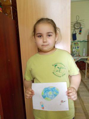 Barátcinege Óvodás rajza a Földről