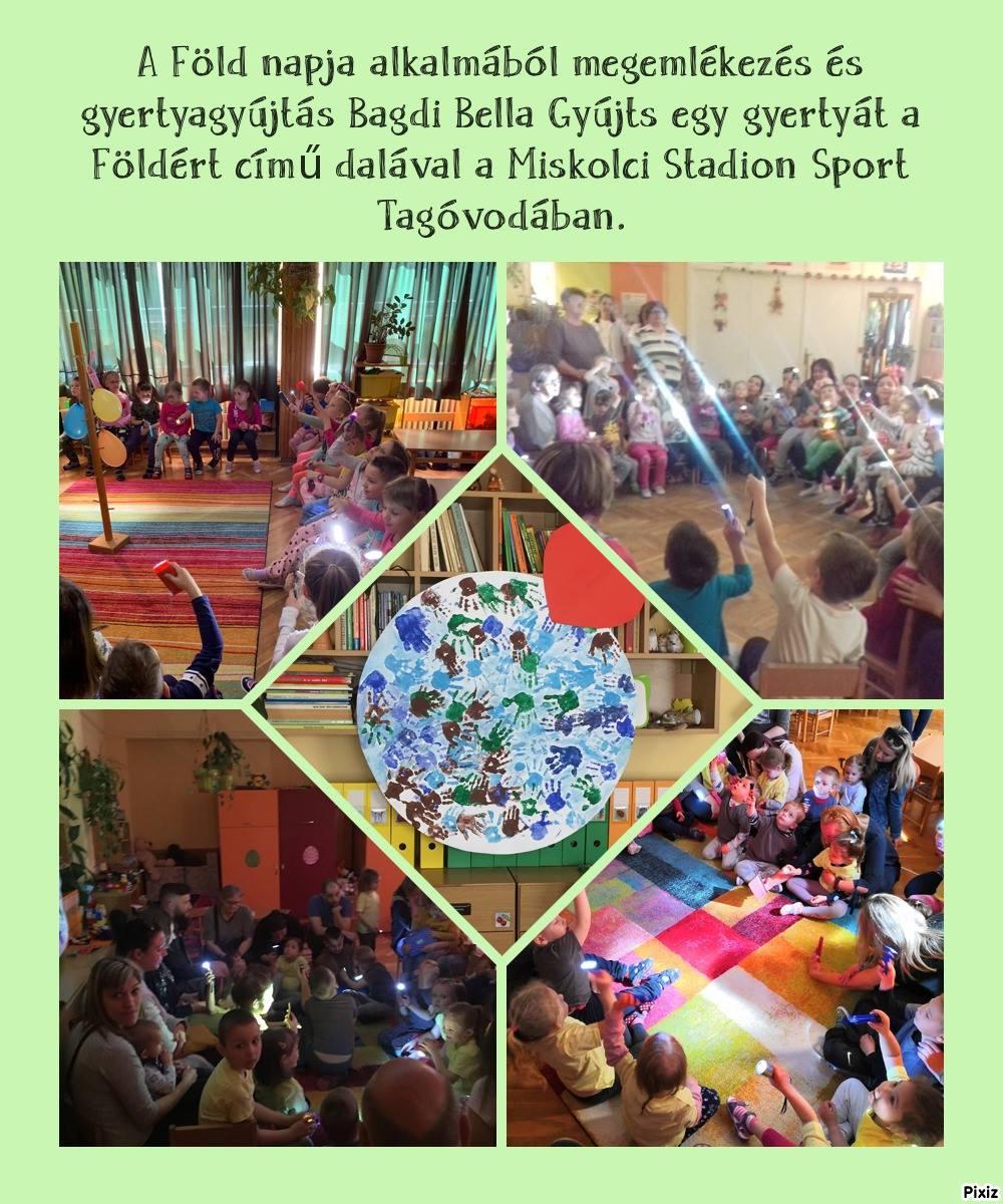 A Föld napjának ünneplése a Miskolci Diósgyőri Óvoda Stadion Sport Tagóvodában
